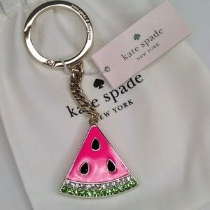 NWT Kate Spade Watermelon Key Fob Key Ring
